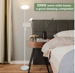Albrillo Modern Floor Lamp Torchiere with Flexible Reading Lamp New 20W Sky LED $58.00