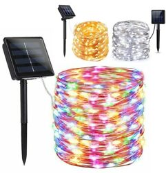 100 200 LED Solar Fairy String Light Copper Wire Outdoor Waterproof Garden Decor $10.95
