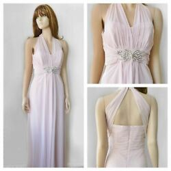 New With Tags No.1 Jenny Packham Pink Maxi Bridemaids Ball Evening Dress Size 14