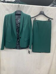 KASPER SKIRT SUIT RETAIL$280 LINED SKIRT LENGTH 25quot; SIZE 16 NEW WITH TAG GREEN $129.99