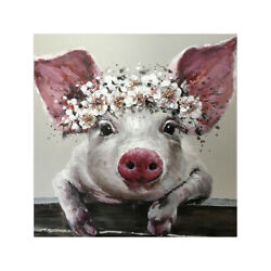 Canvas Painting Pig Big Ears Picture Art Poster Wall Living Room Office Decor $7.59