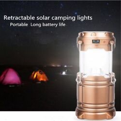 Solar Rechargeable LED Flashlight Power Camping Tent Light Torch Lantern Lamp us $10.23