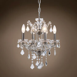 GATSBY LUMINAIRES 701606 001 19th c. Rococo Chandelier 4 Light 13 in Polished $466.00
