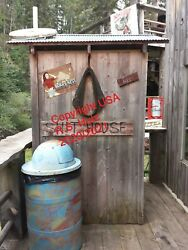 Sturgis Rally Outhouse Pic Framed for bathroom bar garage or man cave $20.00