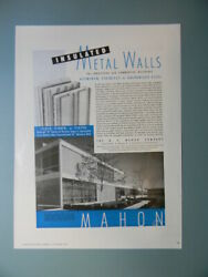 1954 SAWYER BISCUIT DIVISION OFFICE MAHON INSULATED METAL WALLS SALES ART AD $10.99