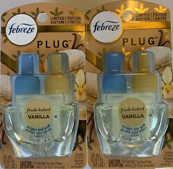 """2 Febreze Plug In Air Freshener Refill Fresh Baked Vanilla quot;Limited Edition"""" $19.97"""