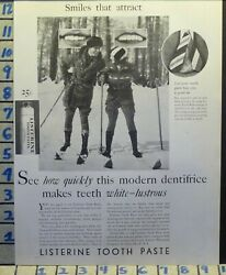 1929 LISTERINE TOOTH PHOTO CROSS SKI WINTER HYGIENE DENTIST HEALTH H30 $24.95