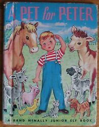 A PET for PETER 1950 Rand McNally Junior Elf Book childrens 8043 vintage $6.50