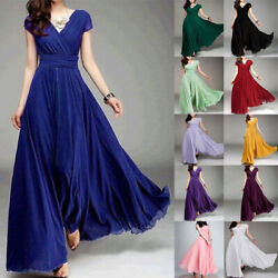 Women Evening Formal Party Wedding Bridesmaid Maxi Dress Prom Cocktail Long Gown $25.99