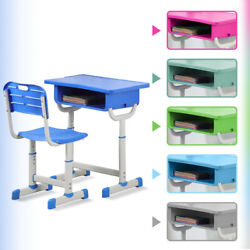Kids Desk And Chair Set Height Adjustable Ergonomic Study School Writing Desk $72.88
