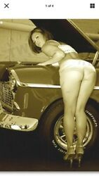 "TIN SIGN quot;Sexy Mechanic"" Babe Pinup Tools Mancave Bar Garage Rustic Decor Beauty $7.35"