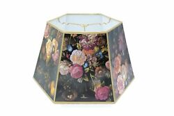 Black Floral 18 Inch Hex Floor Lamp Shade Replacement 12 X 18 X 10.75 $208.99