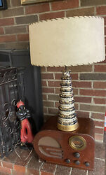 vintage mid century modern Ceramic Lamp shade not Included $59.00