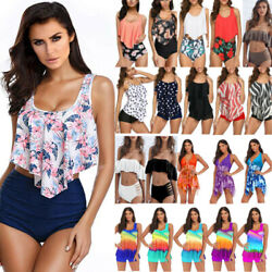 Women Bikini Tankini Set Push Up Padded Swimsuit Swimwear Beachwear Bathing Suit $16.39