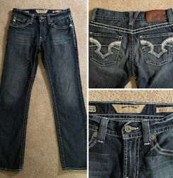 "Big Star Womens Jeans 30""x32"" Size 30 R Union Straight Leg Dark Wash Denim Pants $27.94"
