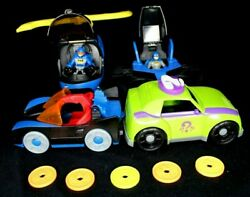 Fisher Price Imaginext Batman Helicopter Batwing Bat car Riddler Car 2 Figures $24.99