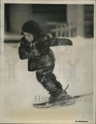 1938 Press Photo Marie tries running in snow shoes nera10979 $19.99