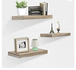 Zgzd Floating Shelves For Wall Easy To Install Set Of 3 5.9quot; Deep Deep Gray $39.99