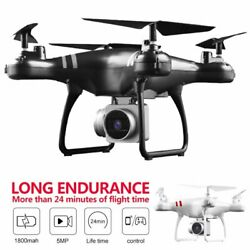 Drone 2.4G Selfi WIFI FPV With 1080P HD 5MP Camera GPS Return RC Quadcopter 2021 $47.42