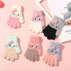 Years Knitted Thermal Gloves Full Finger Mittens Children#x27;s Gloves Kids Gloves $3.86