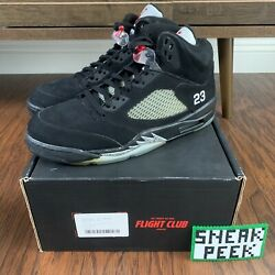 Air Jordan 5 Retro Black Metallic 2011 Size 12 Mens 136027 010 $265.00
