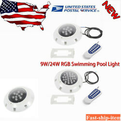Swimming Pool Light Bulb RGB Underwater With RGB Remote Controller 9W 24W $41.84