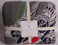 NWT Pottery Barn Kids Star Wars X Wing amp; Tie Fighter FQ quilt full queen f q $169.95