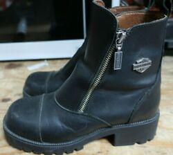 Harley Davidson Womens Boots Size 7.5 Double Zipper H34 $45.00