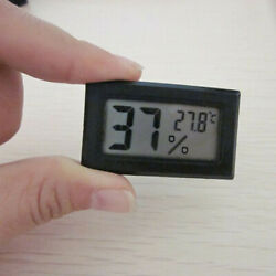 LCD Thermometer Room Indoor Meter Hygrometer tool ABS Black High quality New $6.71