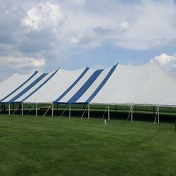 60x120 Commercial Pole Tent Blue White Top Only Other Tents In Description