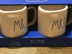 "Rae Dunn ""Mr.quot; and quot;Mrs.quot; Mug Set Artisan Collection $20.00"