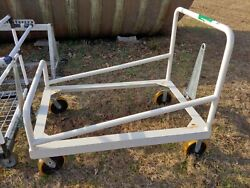 Industrial Commercial Push Pull Cart Wagon Tubular Steel With Folding Hitch