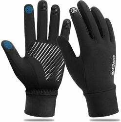 Winter Gloves Men Women Touchscreen Gloves Cold Weather Windproof Gloves Warm Th $11.95