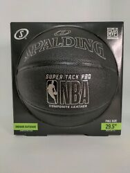 Spalding NBA Composite Leather Basketball 29.5 Super Tack Pro Indoor Outdoor $22.00