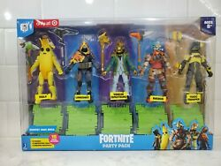 Fortnite Party Pack Target Exclusive Action Figure 5 pack Ships Same Day $44.86