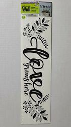 Main Street Wall Creations Stickers quot;Love Grows Herequot; SKU 303149 New $6.99