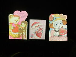 3 VINTAGE VALENTINES FOR AUNT USED $5.00