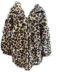 South Moon Under Women's Leopard Jacket Coat Size Large $36.99