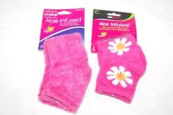 Lot of 2 Air Plus Socks Aloe Infused Ultra Comfort Pink Women#x27;s Size 5 11 $13.50