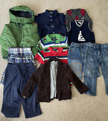 2T And 24 Months Lot Of Boys Designer Clothes 13 Pieces