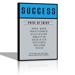 Success Price of Entry Motivational Canvas Wall Art Inspirational Office Wall to $44.91