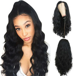 Fashion Womens Long Black Lace Front Wigs Loose Wavy Hair Heat Resistant Wig $21.29