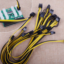 For HP PSU GPU 6PIN 1600W Mining Power 12Ports Breakout Board PCIE Cables 50cm $39.95