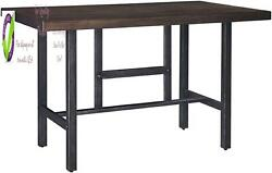 Signature Design By Ashley Kavara Counter Height Dining Room Table Medium Brown $337.95