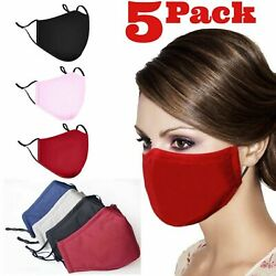 Adjustable ADULT Triple Layers Cotton Washable Reusable With Pocket Face Mask $12.95