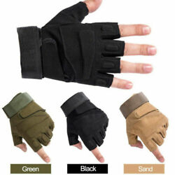 Tactical Half Finger Gloves Fingerless For Outdoor Military Special Forces 2PCS $11.39