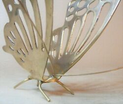 Vintage Brass Butterfly 5 1 2quot; Tall 8quot; Long Beautiful Letter Holder $29.99