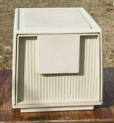Vintage Mid Century Stackable Plastic File Cabinet Tuf file by Staco $50.99