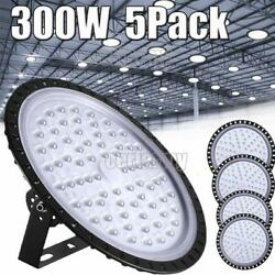 5X 300W UFO LED High Bay Light Shop Lights Fixture Factory Commercial Lighting