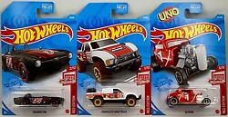 Hot Wheels 2021 TARGET RED SET Triumph TR6 32 Ford Coupe Toyota Off Road Truck $7.99